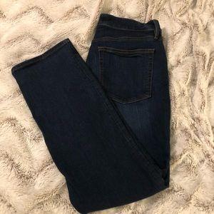 Loft Jean. Dark Blue. Curvy Straight.